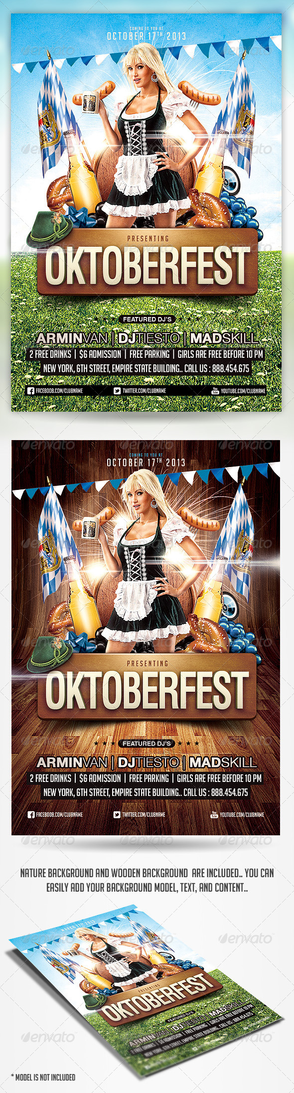 Oktoberfest Party Flyer Template - Holidays Events