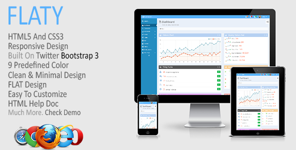 FLATY - Responsive Admin Template - Admin Templates Site Templates