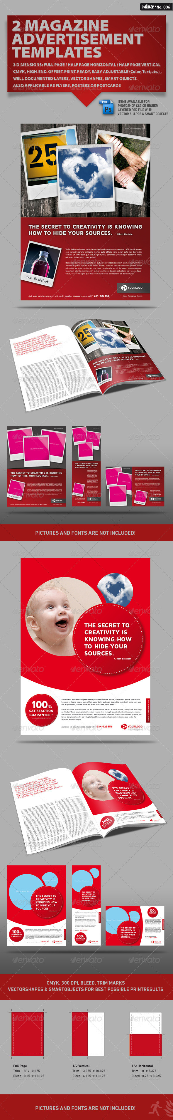 2x3 Magazine AD Templates by doa – Half Page Flyer Template