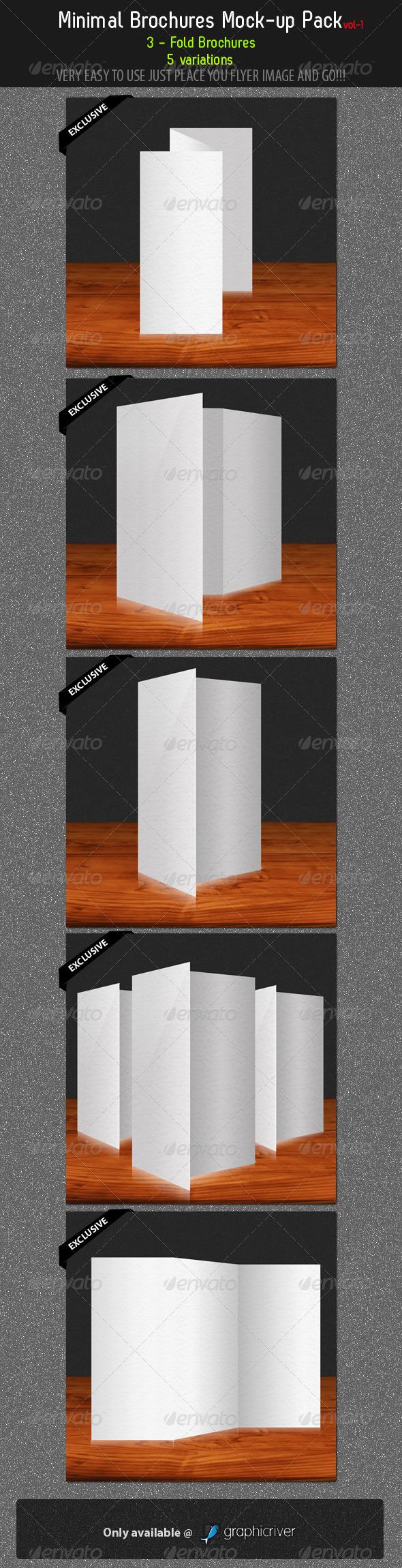 Minimal Brochures Mock-up Pack - 1 - Brochures Print