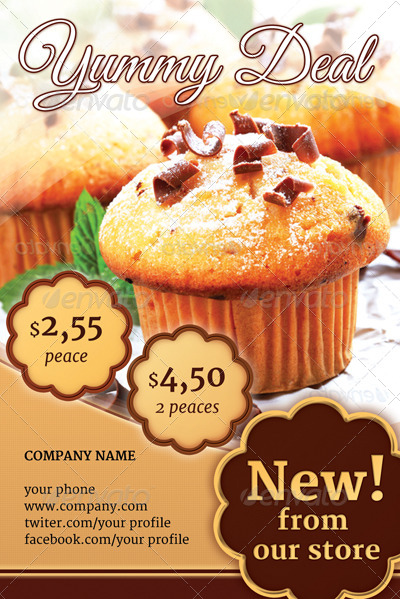 Cake Flyer Set By Gfxtemplate Graphicriver