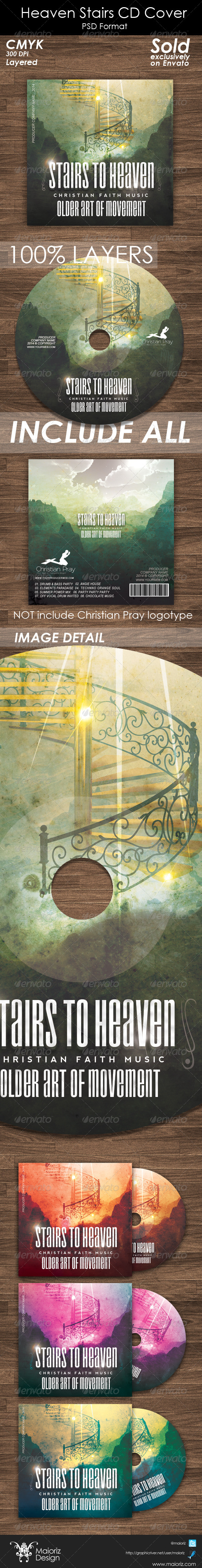 Heaven Stairs CD Cover Artwork - CD & DVD Artwork Print Templates