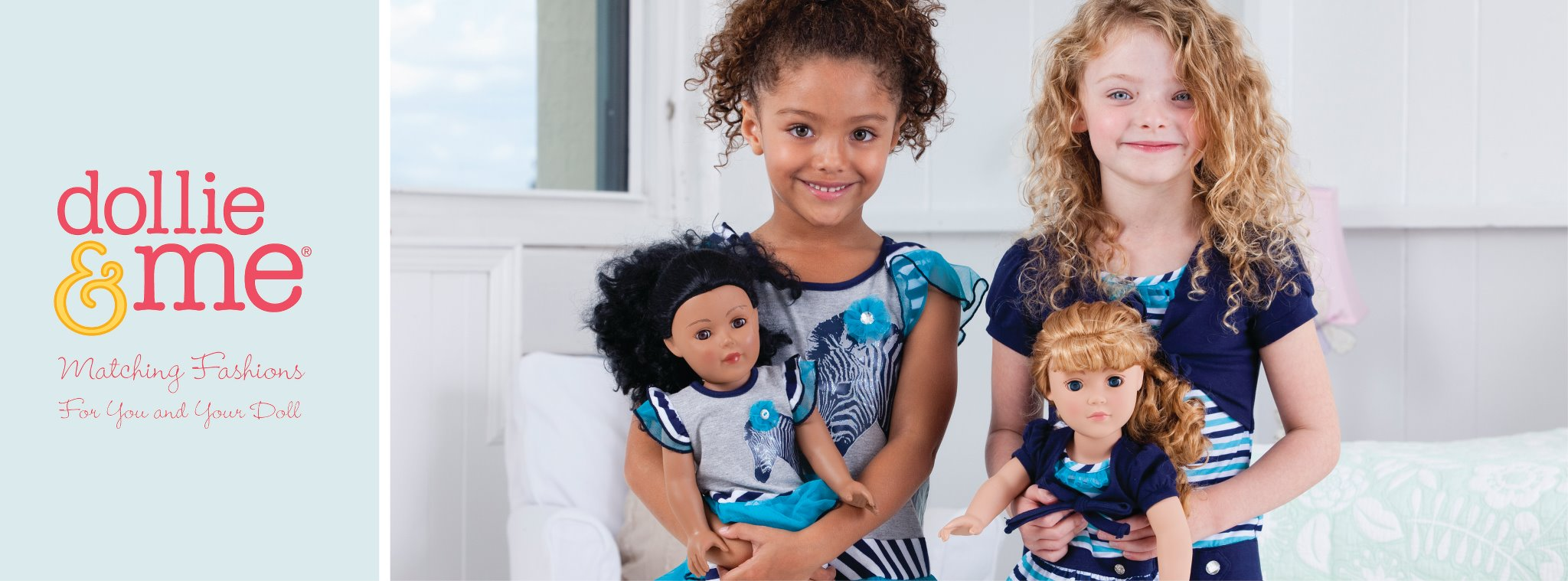 Matching clothes for little girls and their dolls.