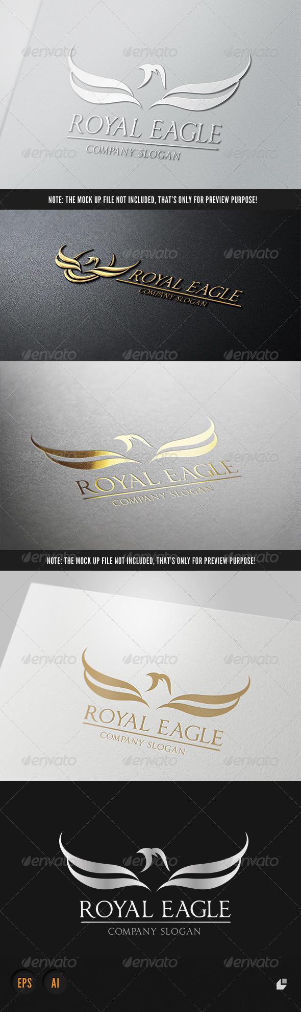Royal Eagle Logo III - Crests Logo Templates