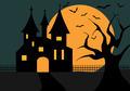Illustration Of A Halloween Castle - PhotoDune Item for Sale