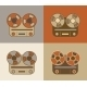 Retro Reel to Reel Tape Recorder Icon - GraphicRiver Item for Sale