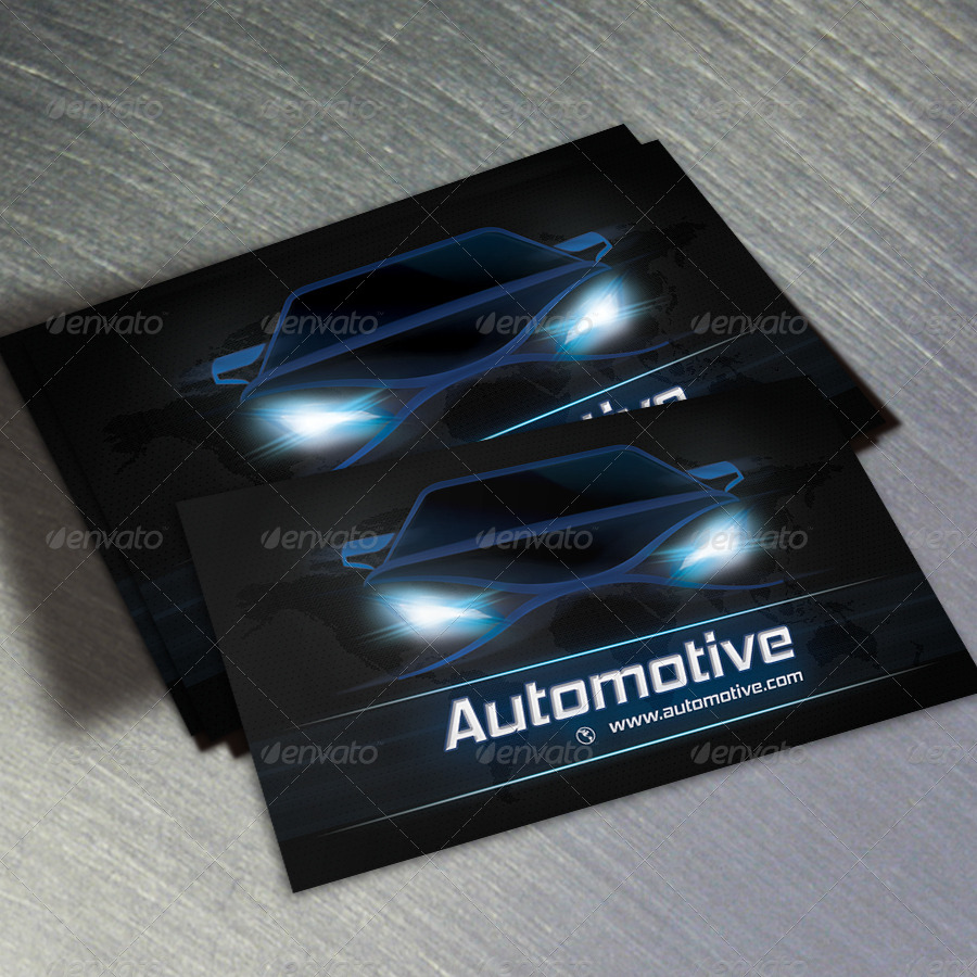 Automotive business card v2 by oksrider graphicriver for Car shaped business cards