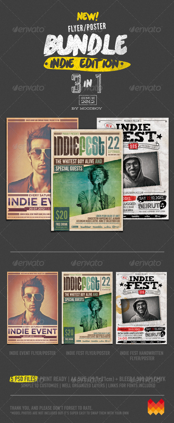 Indie Flyers/Posters Bundle - Events Flyers