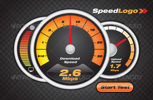 Internet Speed Test Dashboard - Computers Technology