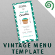 Vintage Pastry House Menu Template - GraphicRiver Item for Sale