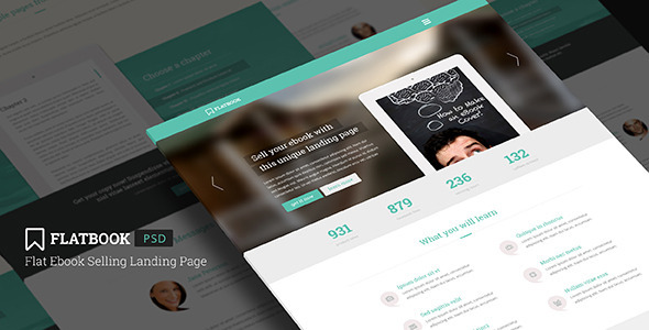 FlatBook – Flat Ebook & App Selling Psd Template