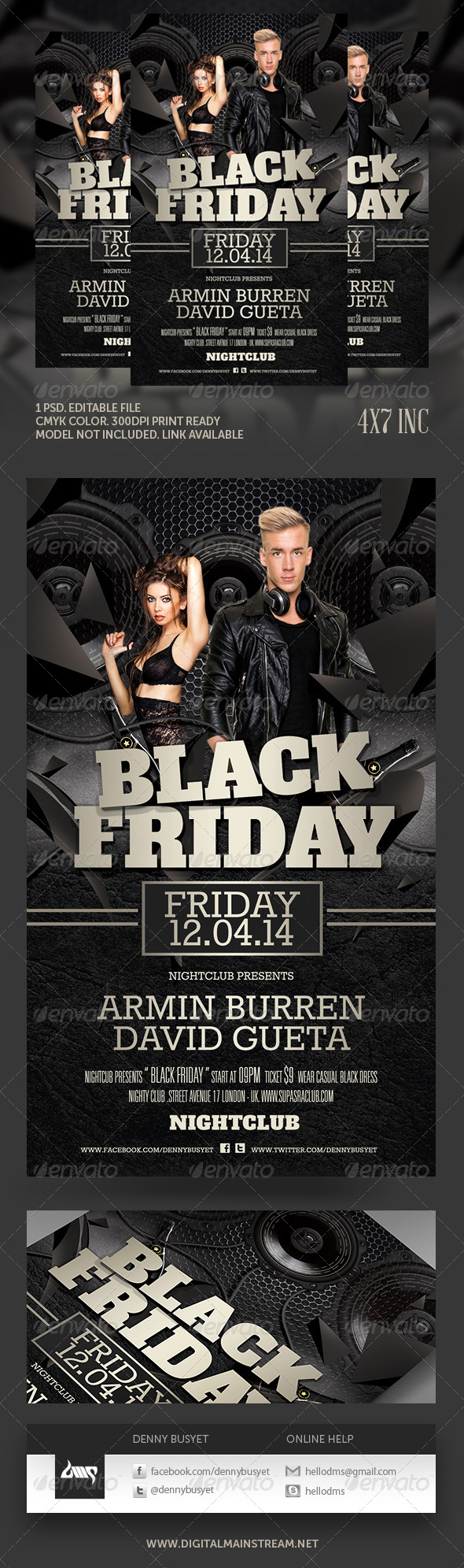 Black Friday Club Flyer Template - Events Flyers