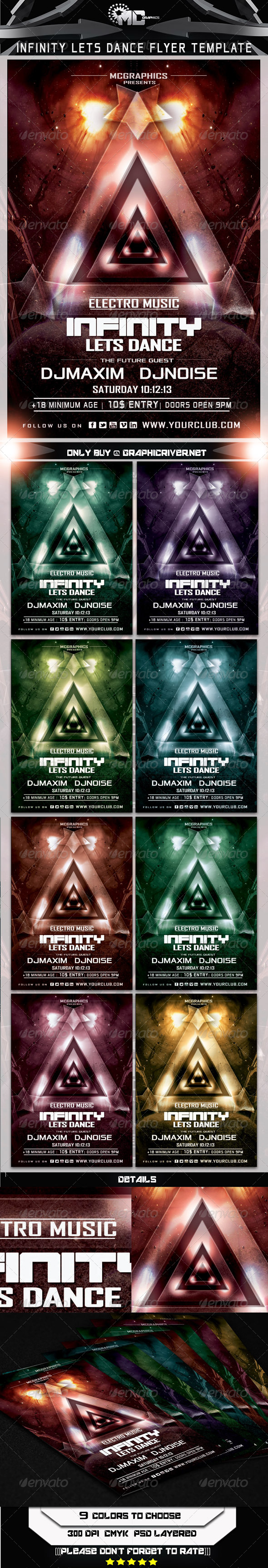 Infinity Lets Dance Flyer Template - Print Templates