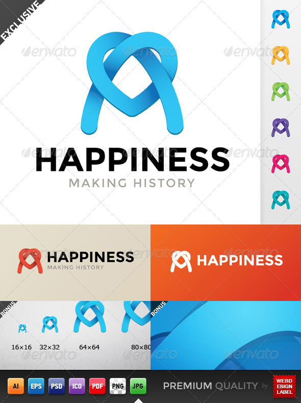 Happiness Logo - Symbols Logo Templates