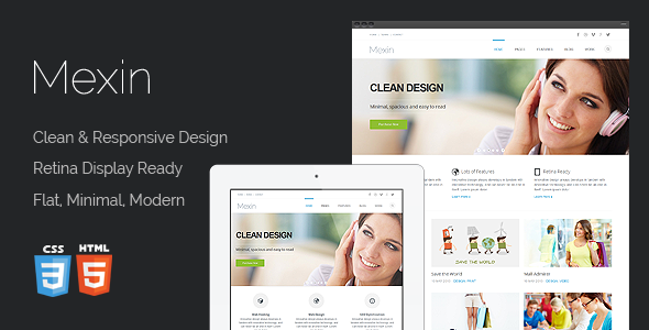 Mexin - Premium Multipurpose Responsive Template - Business Corporate