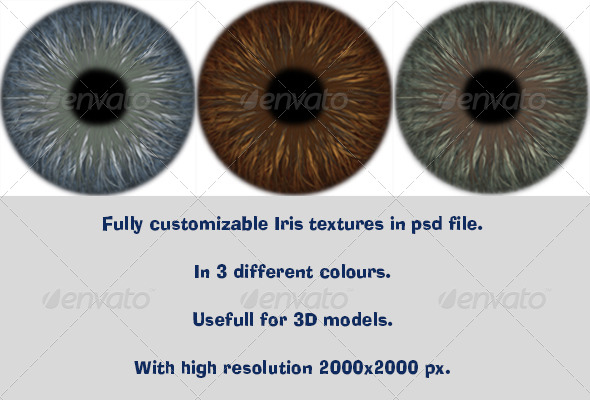 Realistic Iris Texture - 3DOcean Item for Sale