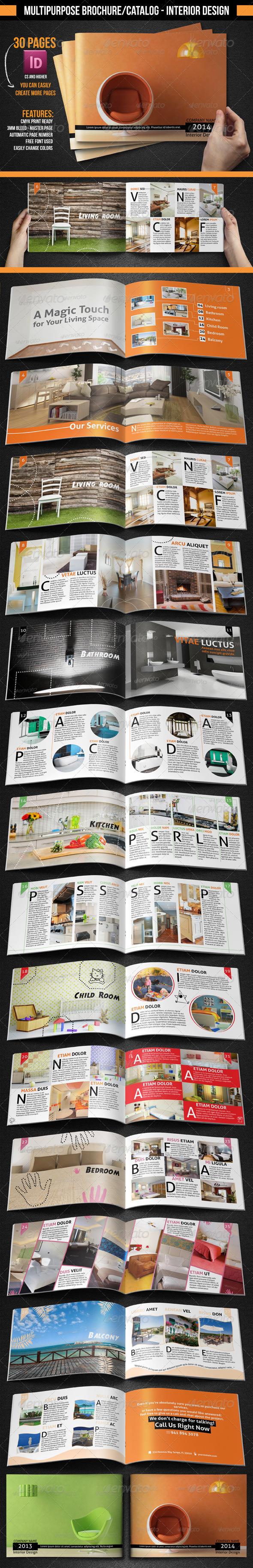 Multipurpose Brochure/Catalogue - Interior Design  - Brochures Print Templates