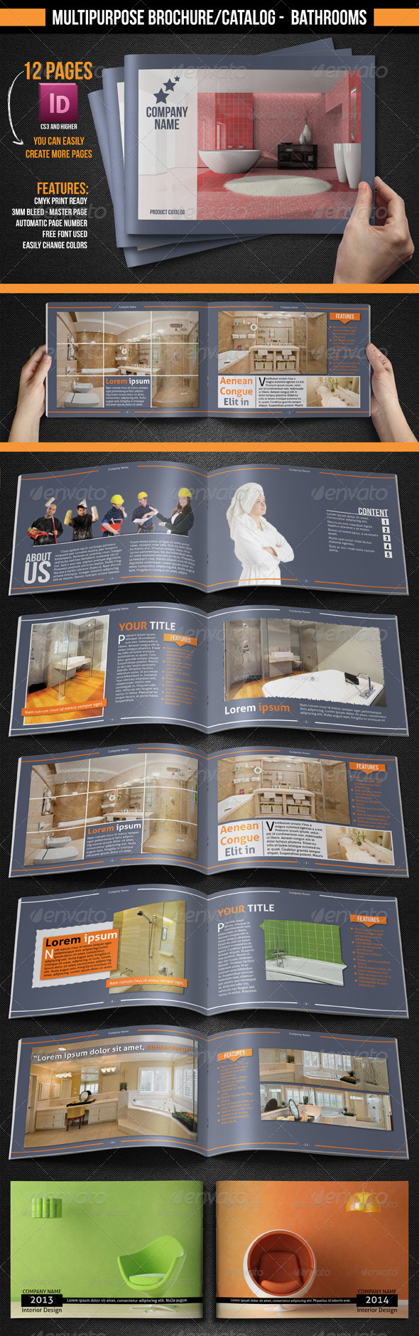 Multipurpose Brochure/Catalogue - Bathrooms - Catalogs Brochures