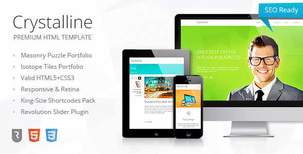 Crystalline – Premium HTML5 Template