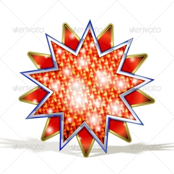 Magic Red Star - Decorative Symbols Decorative