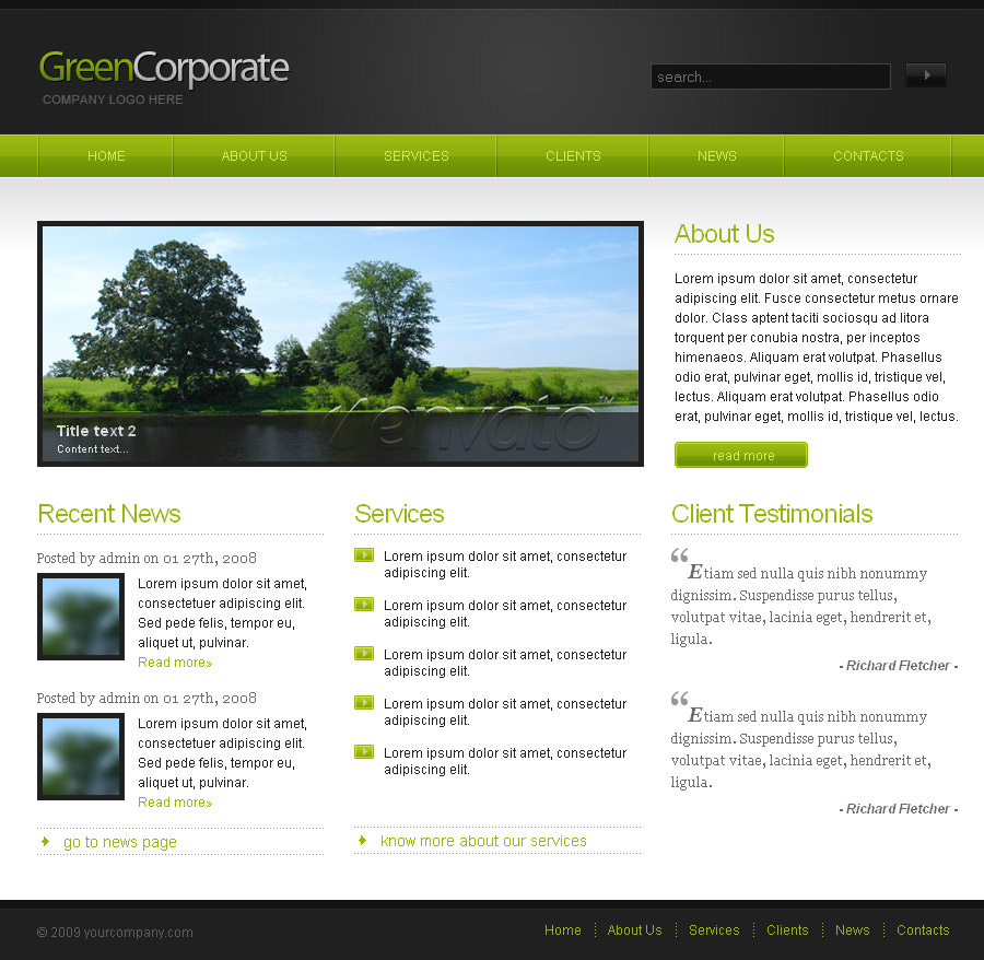 Free Download Green Corporate Nulled Latest Version