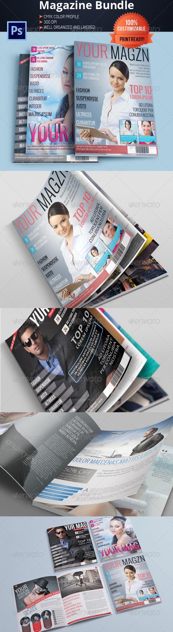 Magazine Template Bundle Vol.3 - Magazines Print Templates