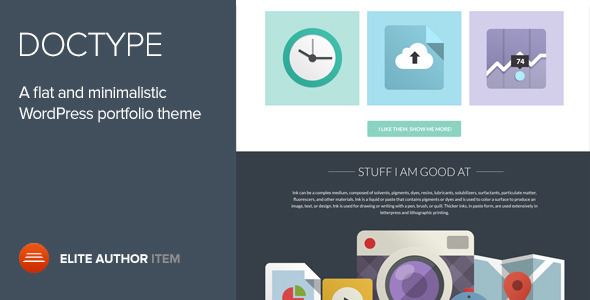 Doctype - A Flat and Minimal Portfolio Theme