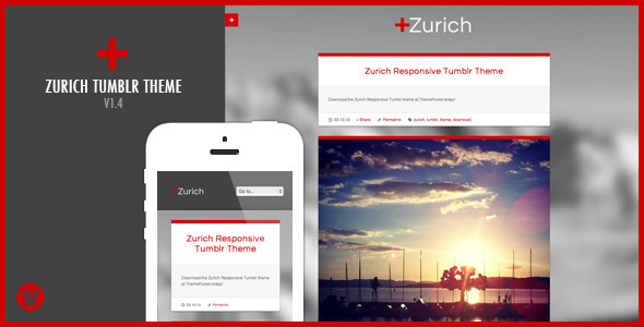 Zurich – A Responsive Tumblr Theme