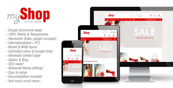 myShop – Responsive Drupal Commerce Theme