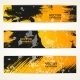 Black and Yellow Vector Handdraw Banner - GraphicRiver Item for Sale