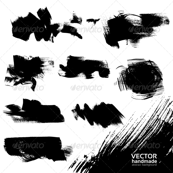 Abstract Black Vector Backgrounds Set  - Backgrounds Decorative