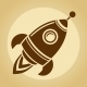 Vintage Rocket in Space - GraphicRiver Item for Sale