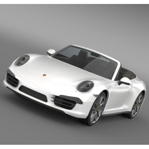 Porsche 911 Carerra 4 Cabrio 2013 - 3DOcean Item for Sale