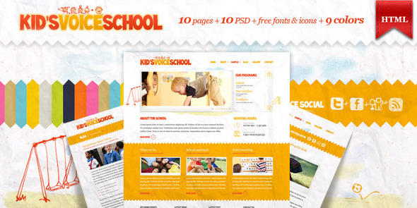 Kids Voice School - HTML Template - Children Retail