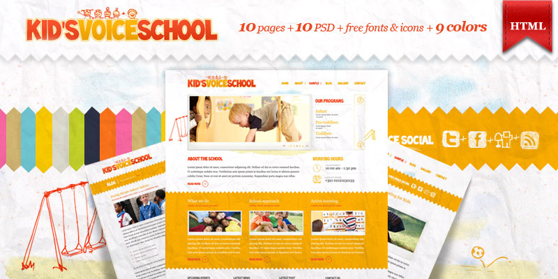 school templates free download