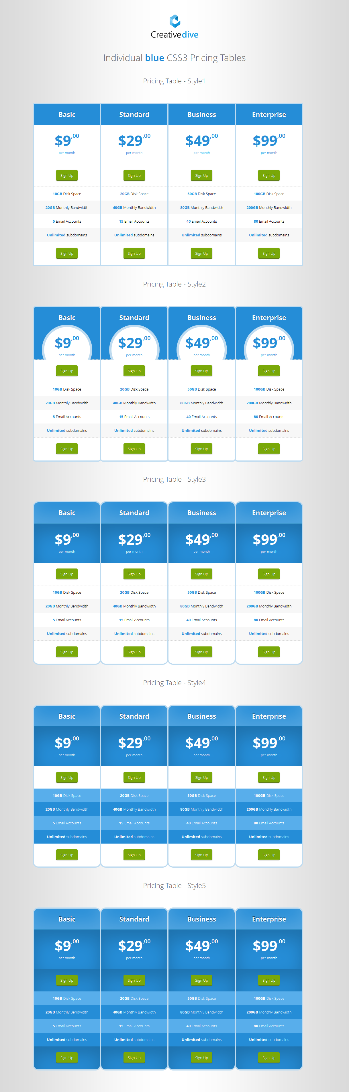 Css pricing tables with hover effect by creativedive for Attractive table css