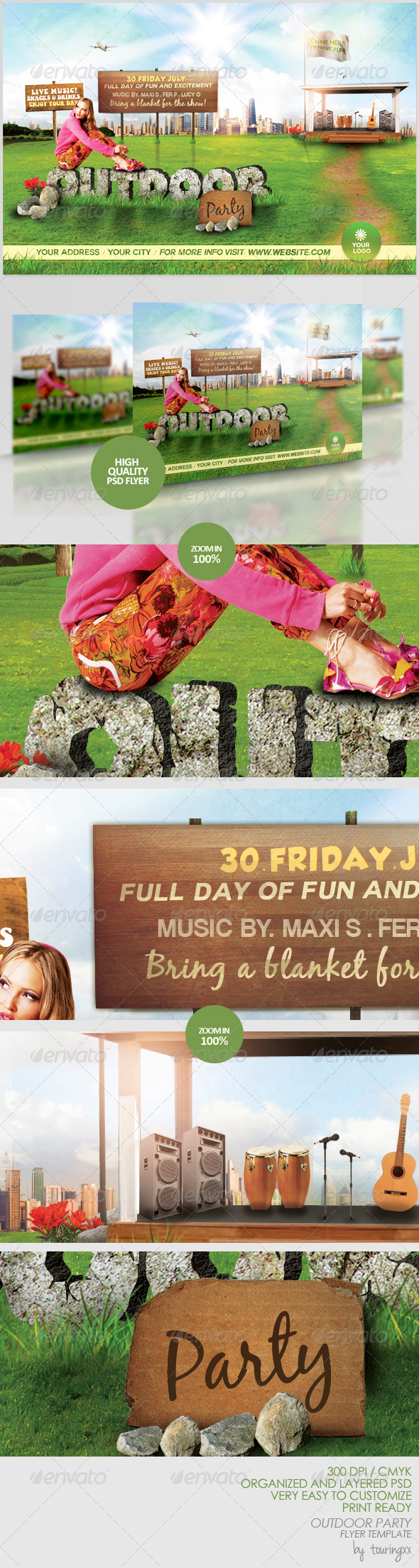 Outdoor Party Flyer Template - Print Templates