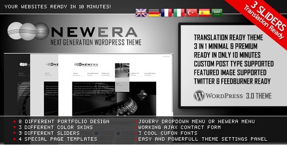 Free Download NewEra 3 in 1 Wordpress Theme Ready in 10 Minutes Nulled Latest Version