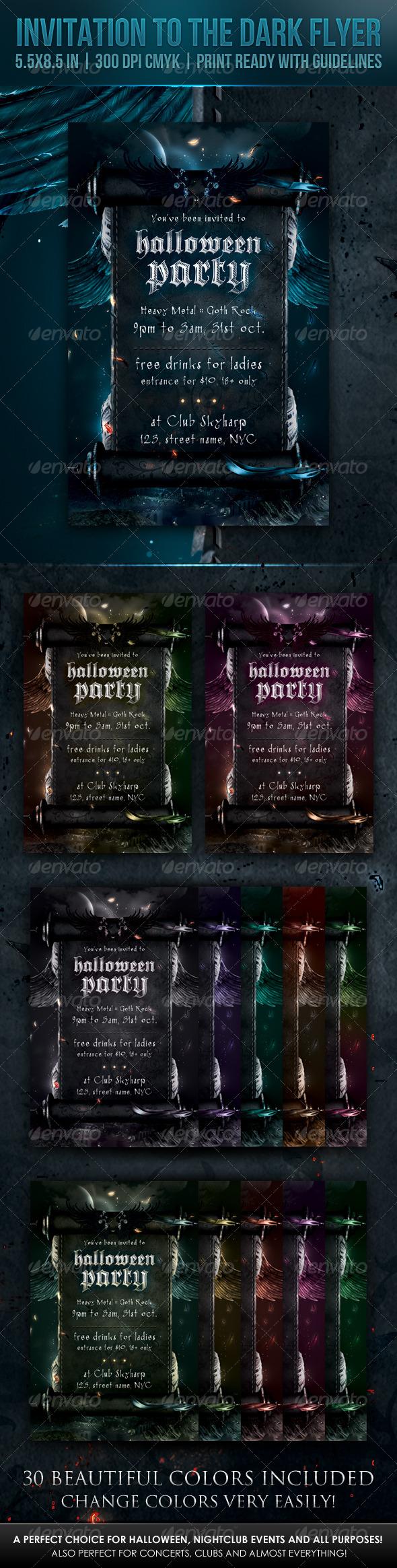 Invitation to the Dark Flyer - Print Templates