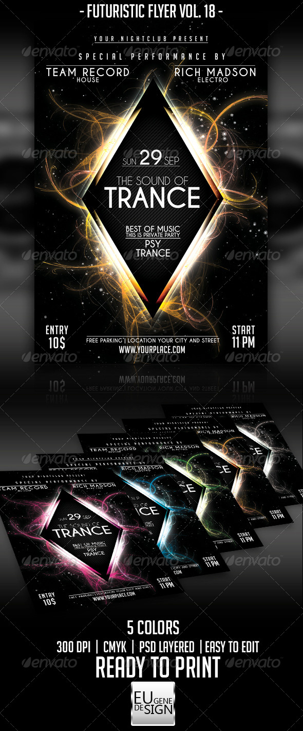 Futuristic Flyer Vol. 18 - Clubs & Parties Events
