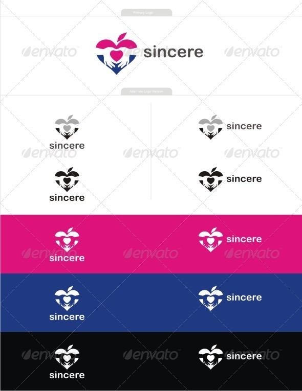 Sincere love - Symbols Logo Templates