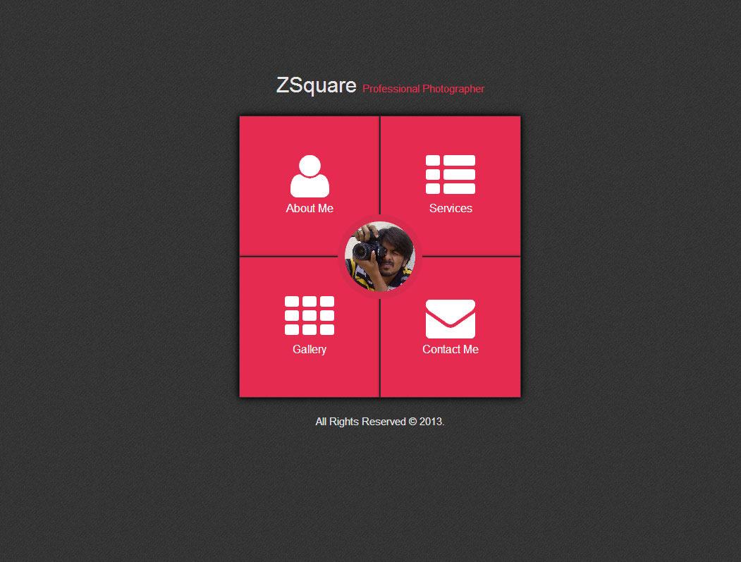 CSS3 - ZSquare Animated Web Profile