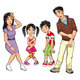 Sick family. Cartoon and isolated characters - GraphicRiver Item for Sale