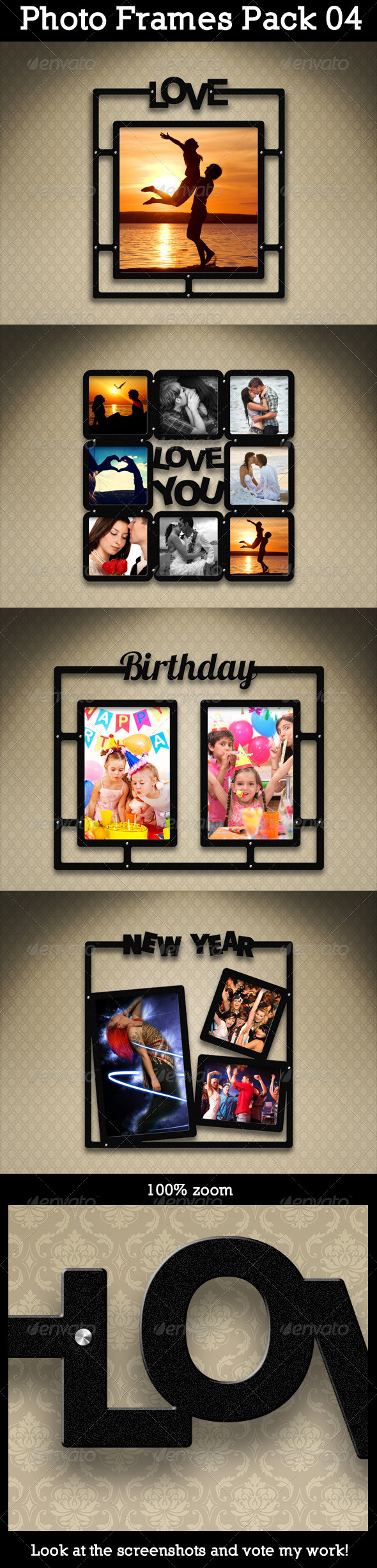 Photo Frames Pack Graphics, Designs & Templates