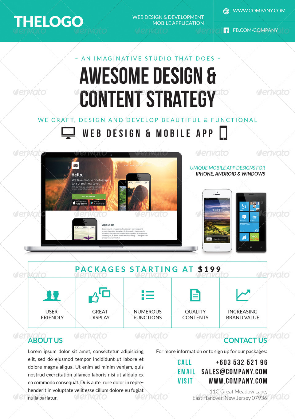 digital  web  mobile  design services flyer by artalic