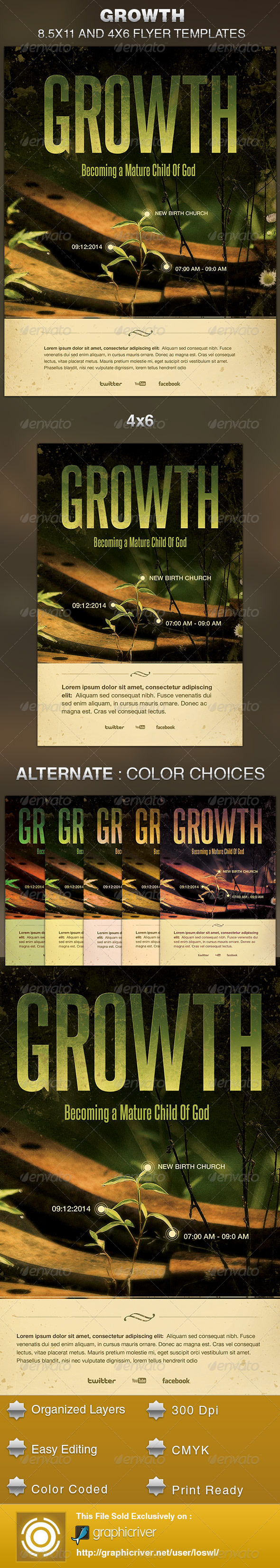Growth Church Flyer Template - Church Flyers