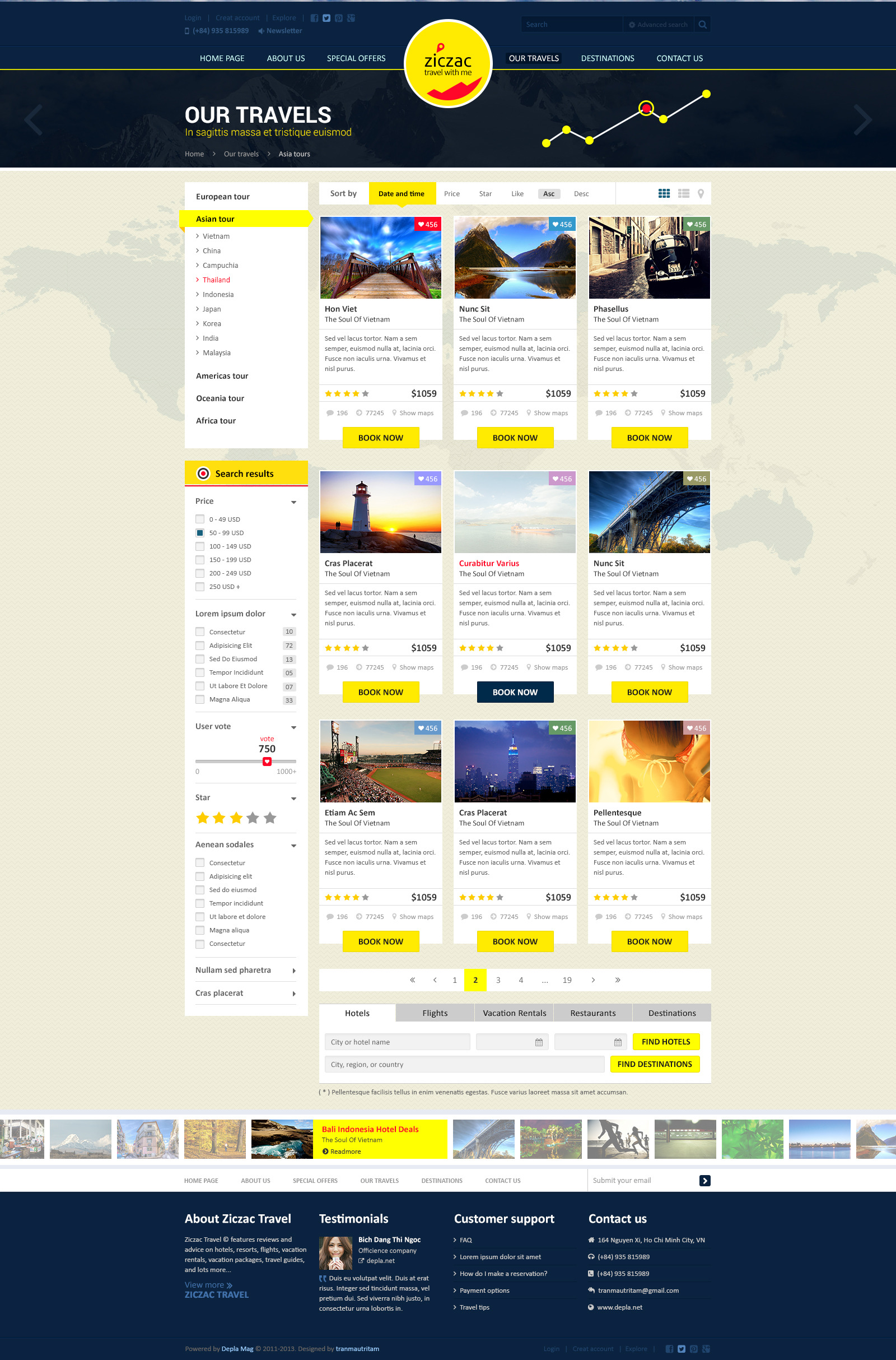 Ziczac Travel – HTML5 Responsive Booking Template by ThemeCoders ...