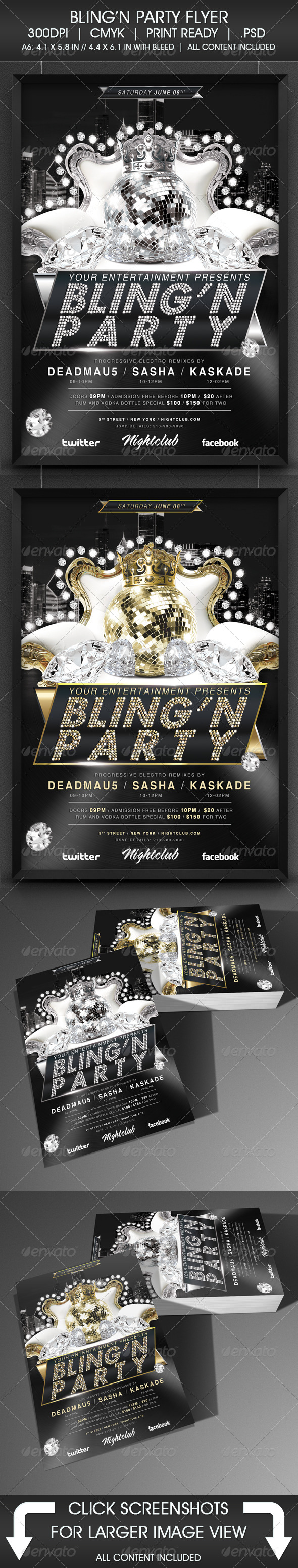 Bling Party Flyer - Events Flyers