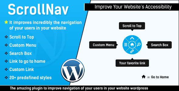 ScrollNav - Scroll to Top, Sliding Menu and Search for WordPress - CodeCanyon Item for Sale