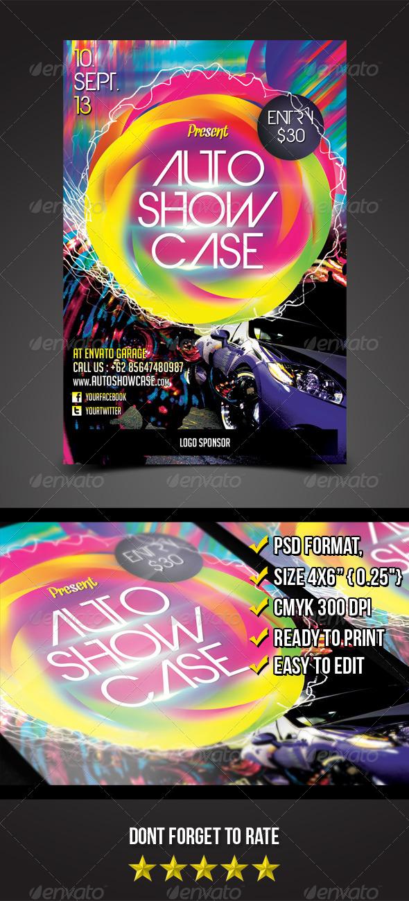 Auto Showcase Flyer - Print Templates
